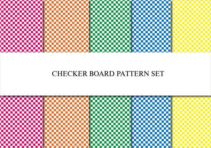 5 Checker Board Patterns Set
