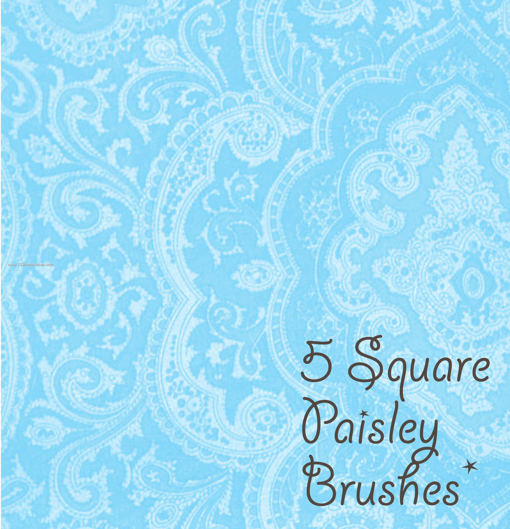 5 Paisley Square Free Photoshop Brush