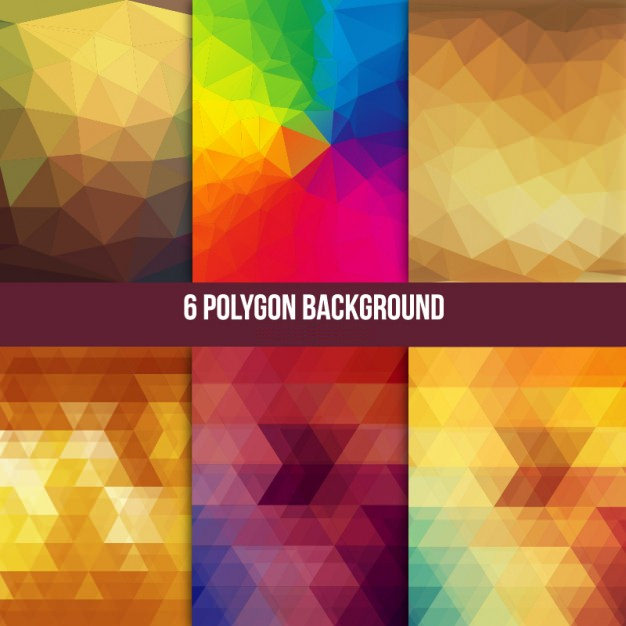 6 Free Polygon Vector Backgrounds
