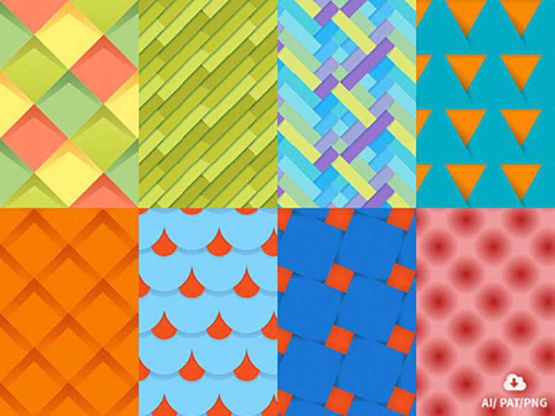 8 Free Material Design Patterns