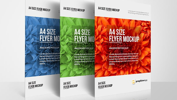 Free 7 A4 Flyer Mockups In Psd Indesign Ai