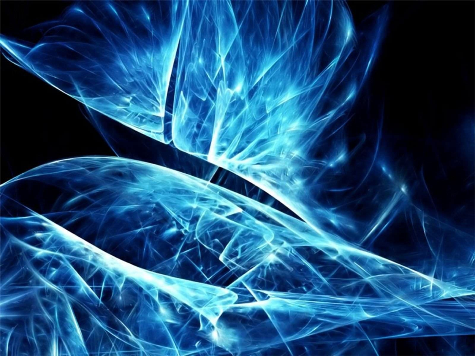 Abstract Black & Blue Wallpaper