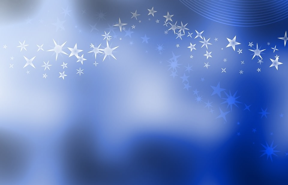Abstract Blue Background Texture with Stars