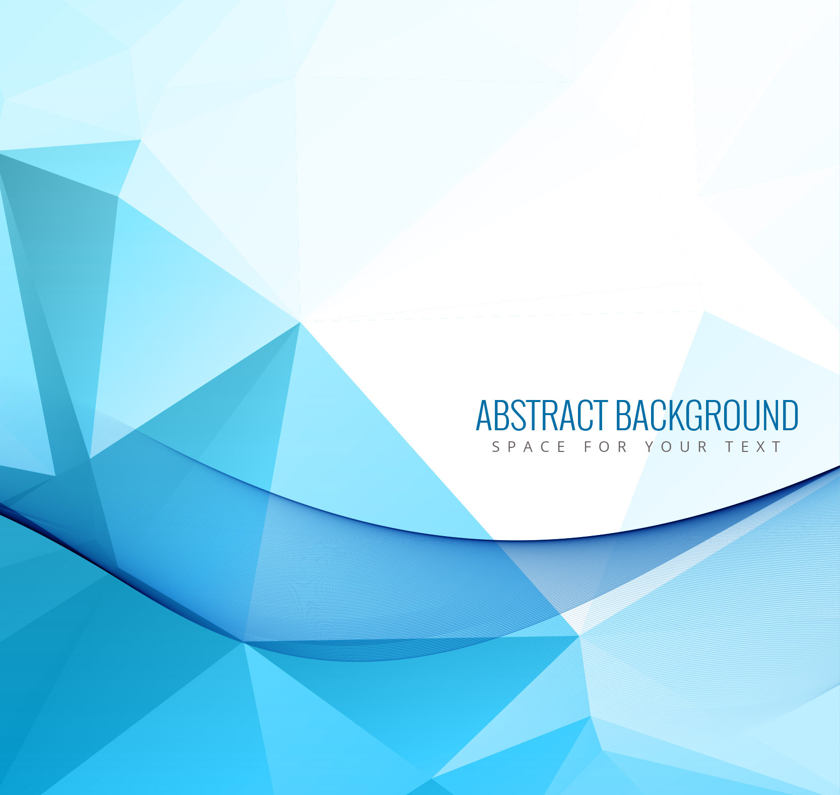 Abstract Blue Polygon Background TExture