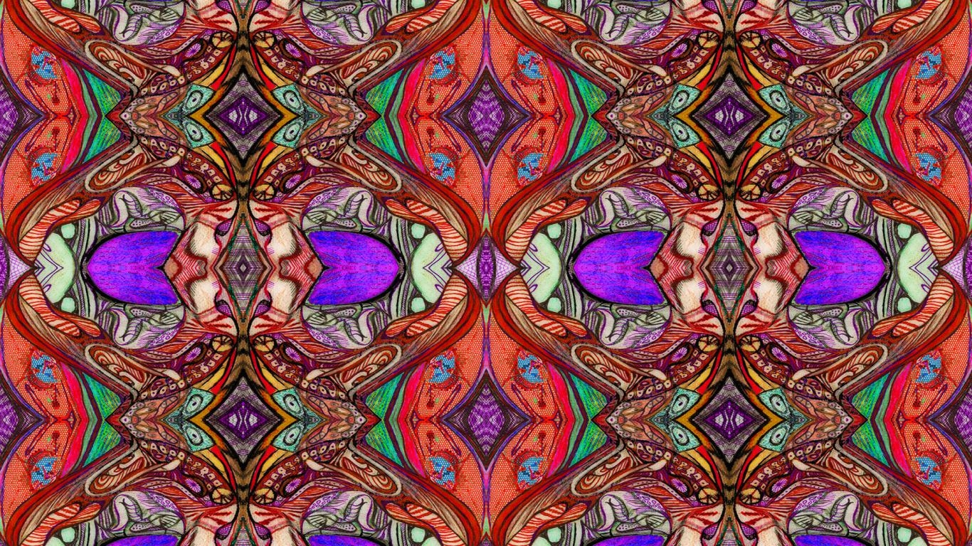 Abstract Flowers Trippy Wallpaper