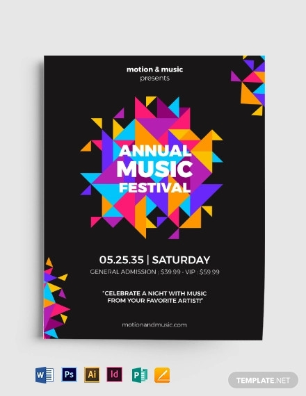 abstract polygon flyer template