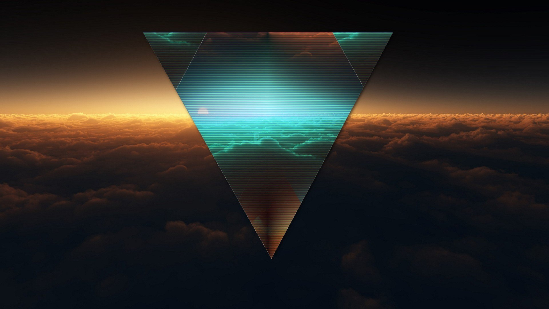 Abstract Triangle Dark Background