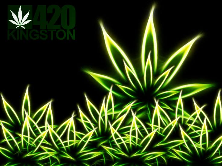 Abstract Weed Wallpaper