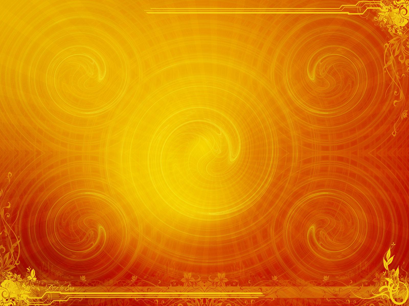 Abstract Yellow Swirls Wallpaper