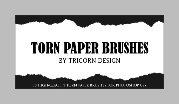 adobe photoshop torn paper brushes