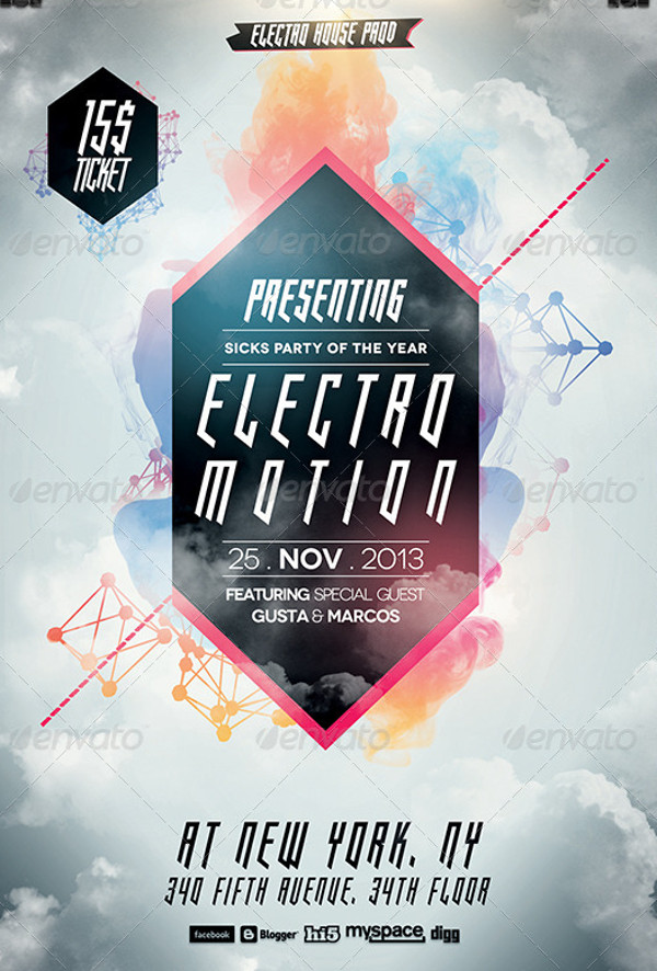 Advertising Electro House Flyer