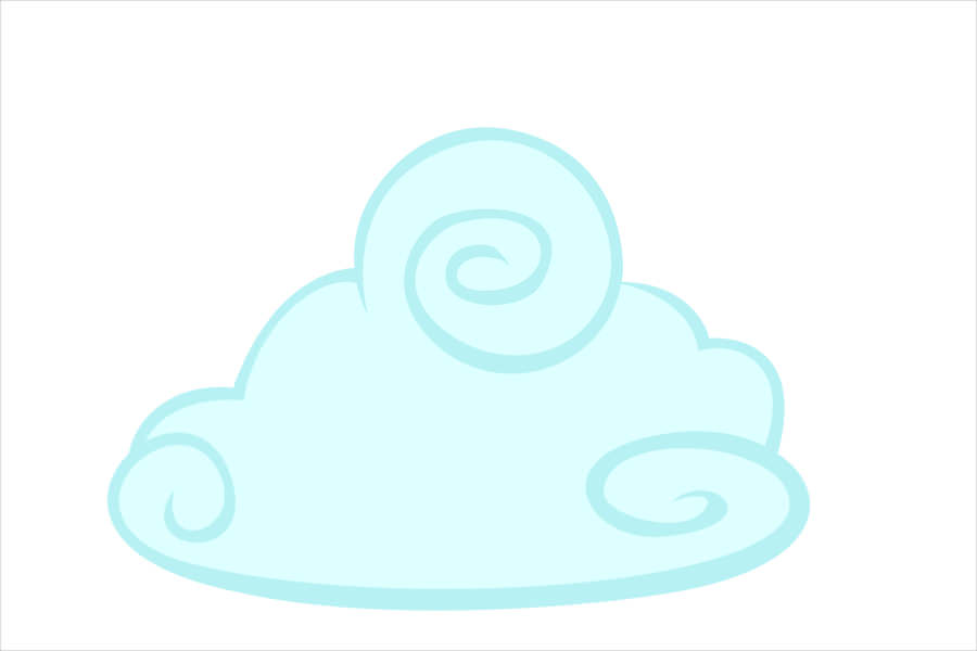 Amazing Cloud Vector For Free