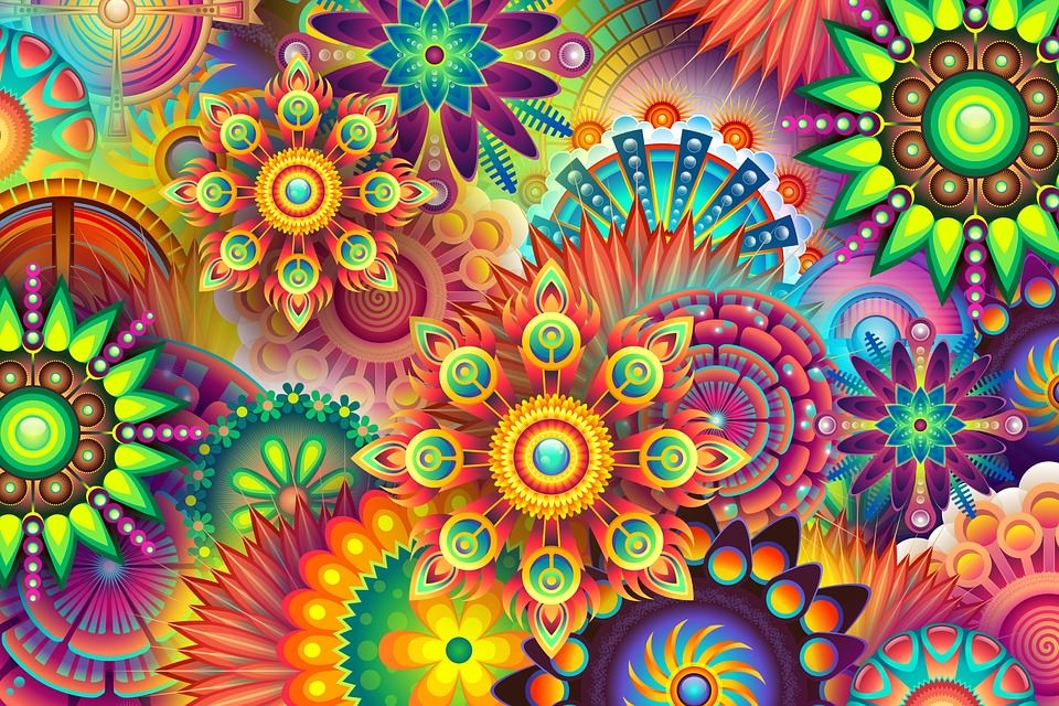Amazing Psychedelic Background