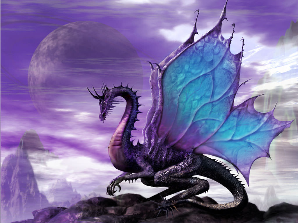 Amazing Violet Dragon Wallpapers