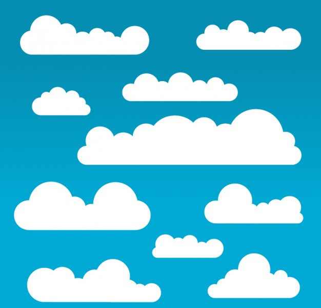 Amazing White Clouds Pack Free Vector