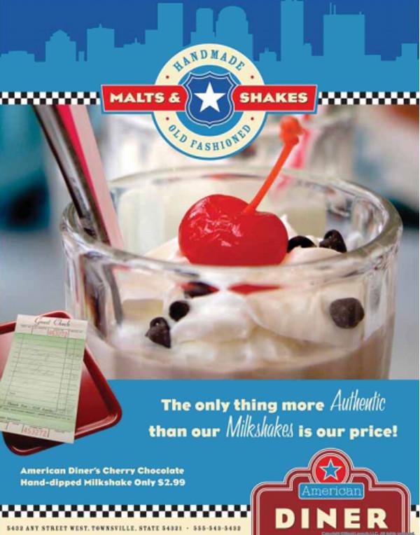 American Diner Food Flyer