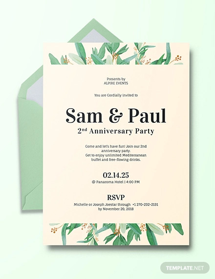 anniversary invitation design