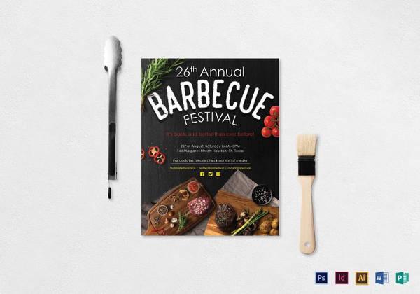 Annual BBQ Festival Flyer Design Template