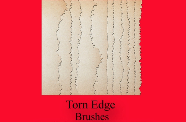 antiqued torn edge brushes