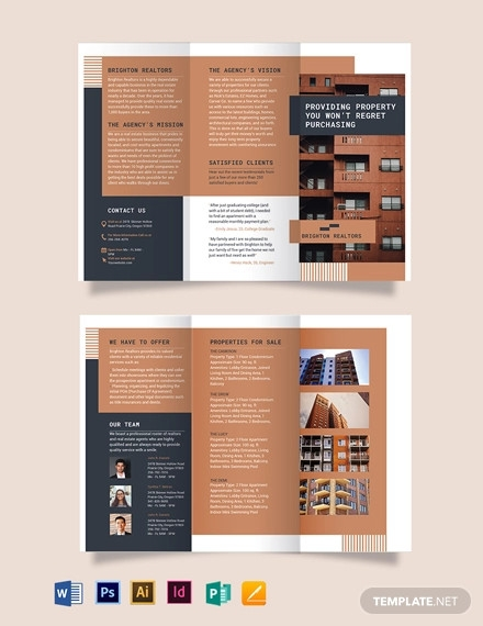 apartment condo tri fold brochure template