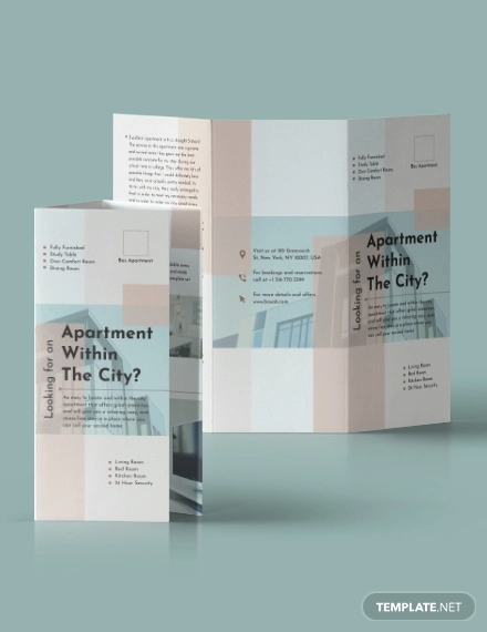 36  apartment brochures