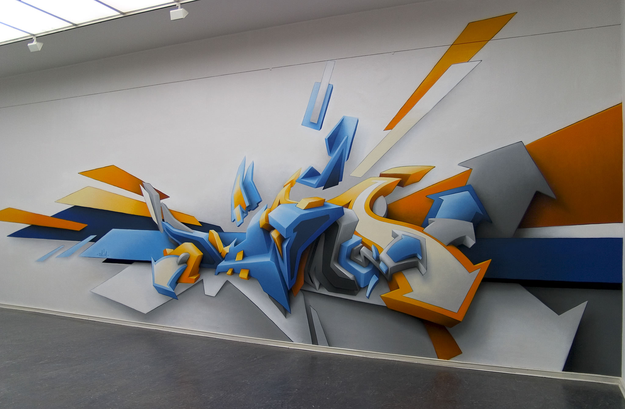 Artistic 3D Graffiti Wallpaper