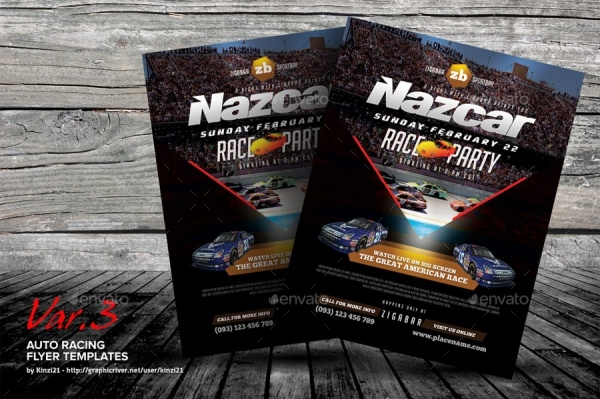Auto Racing Flyer Template