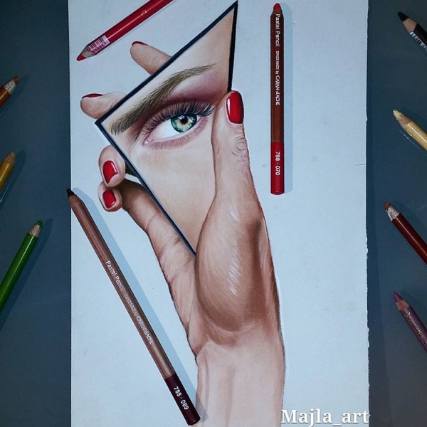 Awesome Eyes Pencil Drawing