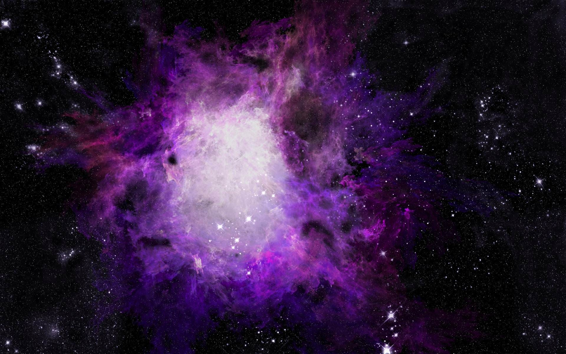 Awesome Galaxy in Purple Background
