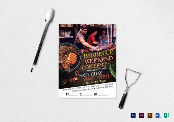 BBQ Contest Flyer Template