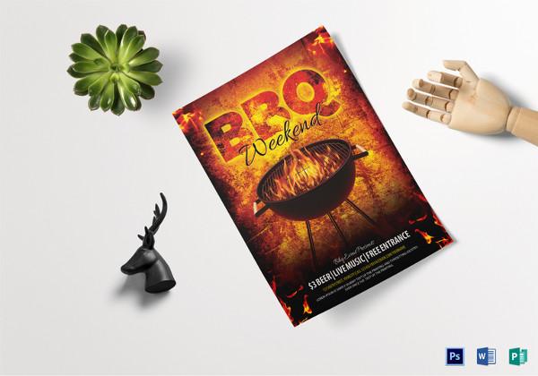 BBQ Weekend Flyer Template