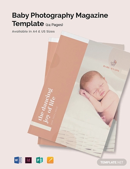 baby photography magazine template