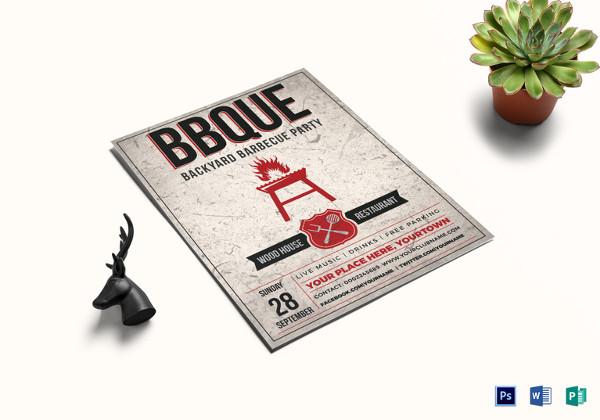 Backyard BBQ Event Flyer Template