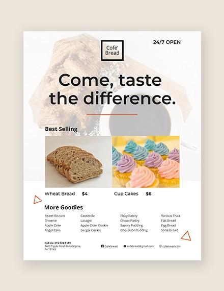 39 bakery flyer templates