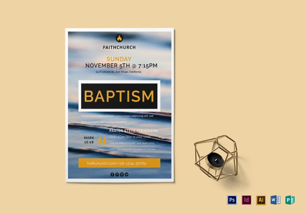 baptism flyer template