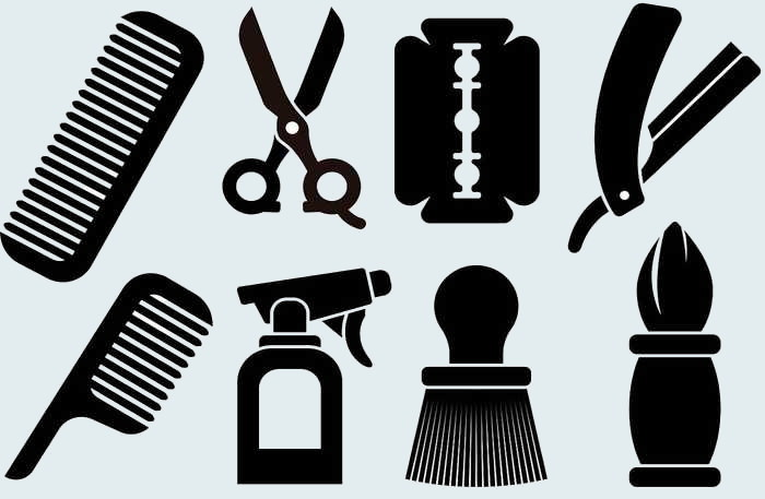 Barber Tools Icons