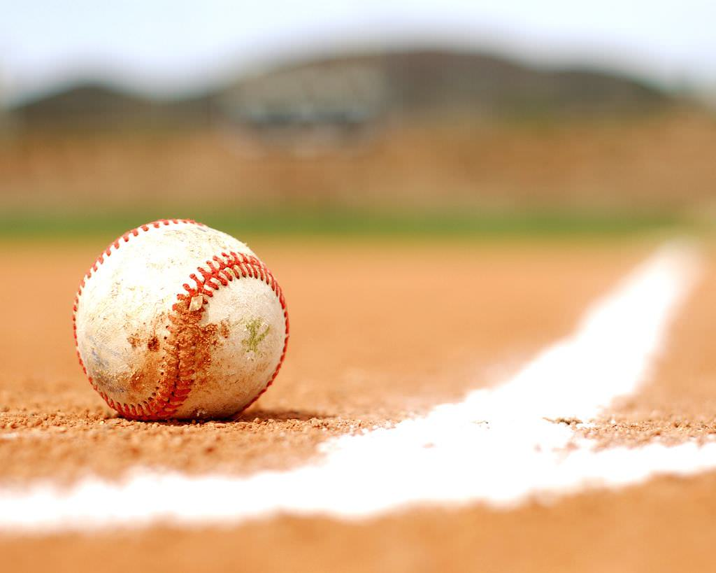 Baseball on the Ground Wallpaper