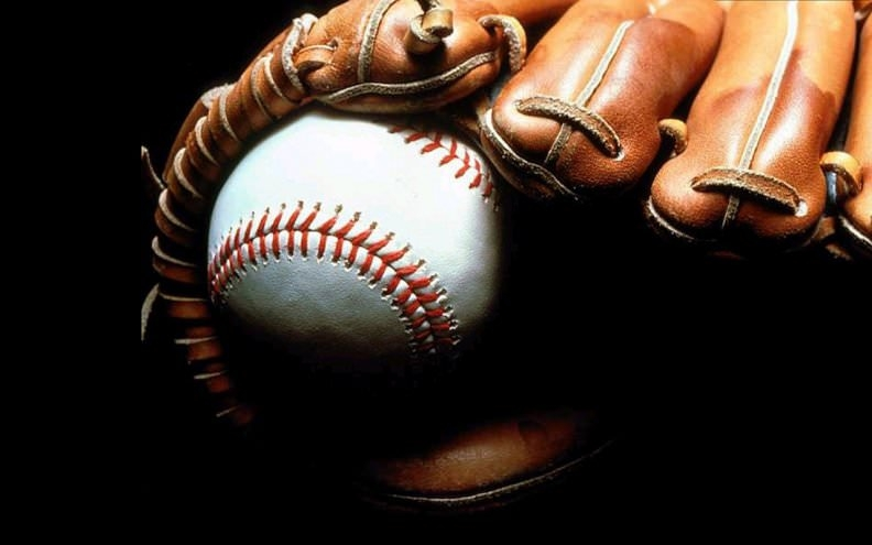 Baseball with Gloves Wallpaper