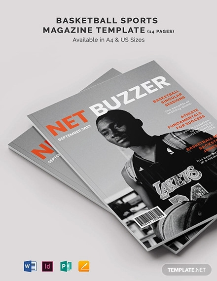basketball sports magazine template