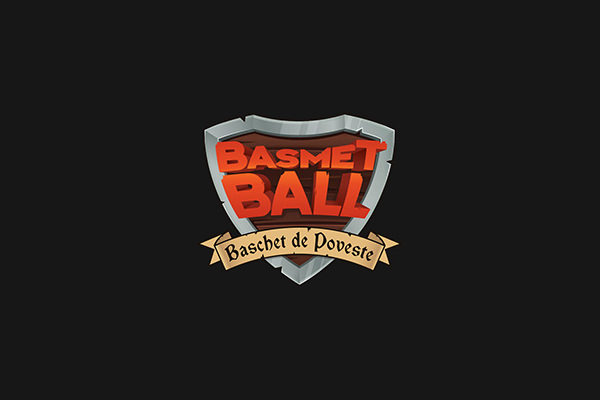 Basmetball Metal Logo For Free