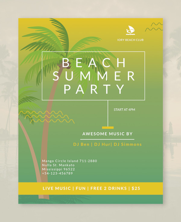 33  awesome beach flyer templates  u0026 creatives