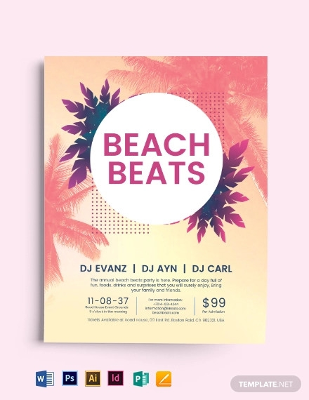 beach party flyer template1