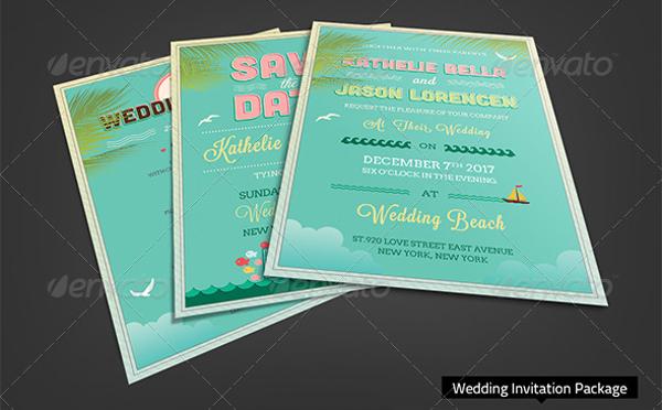 Beach Party Wedding Invitation