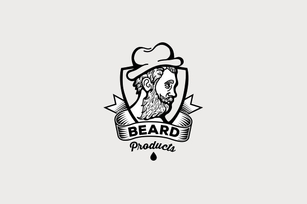 Beard Products Hipster Logo