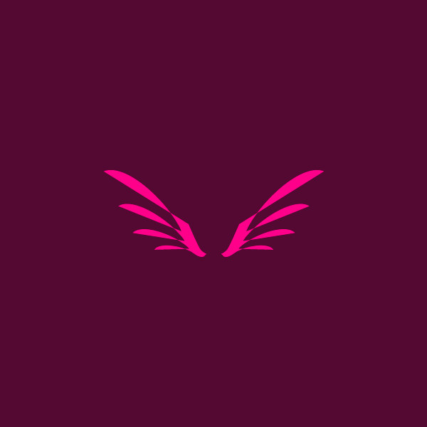Beautiful Angel Wing Logo