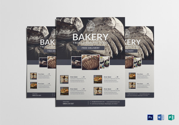 Beautiful Bakery Sale Flyer Template