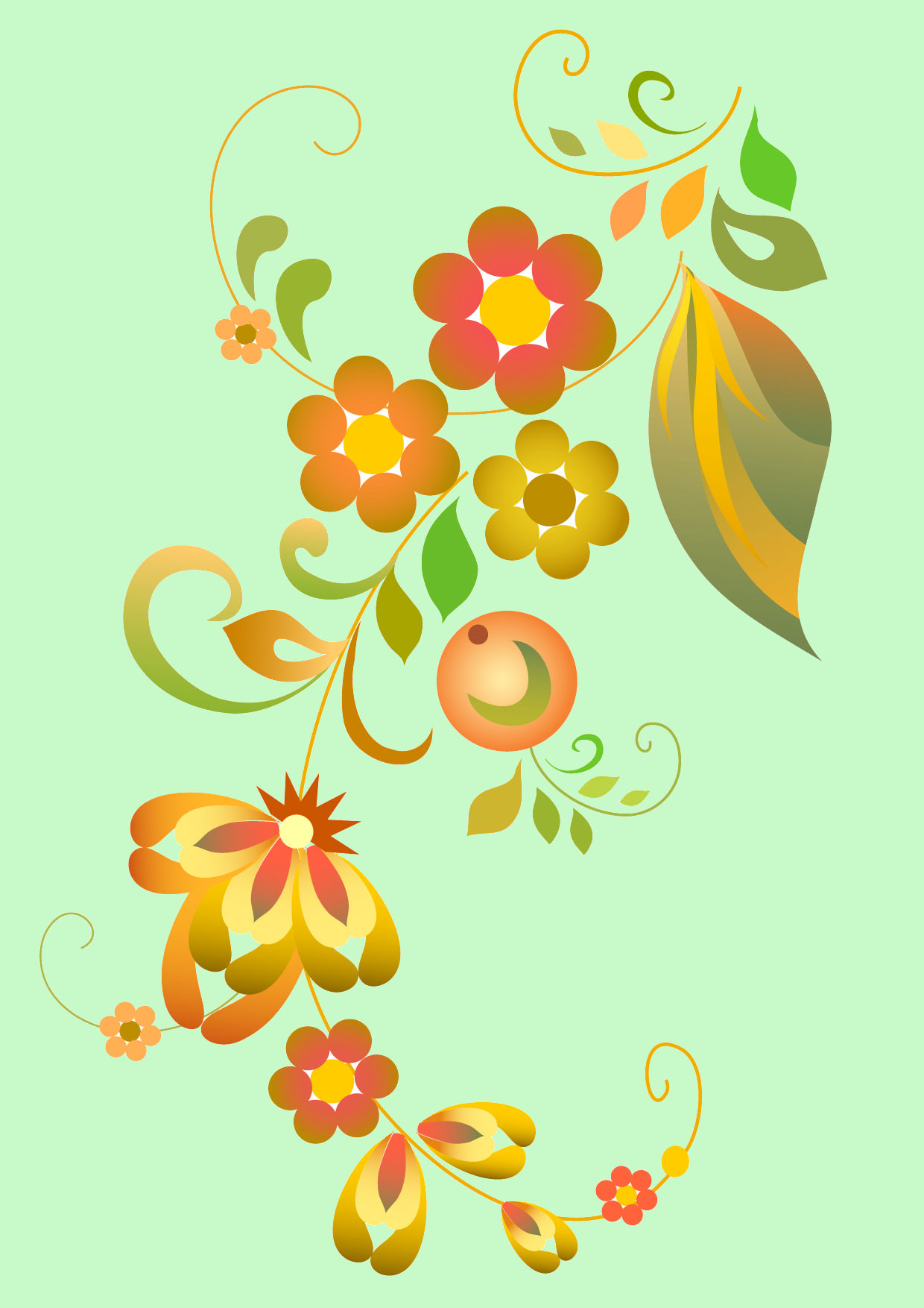 Beautiful Flower PAttern Vectors