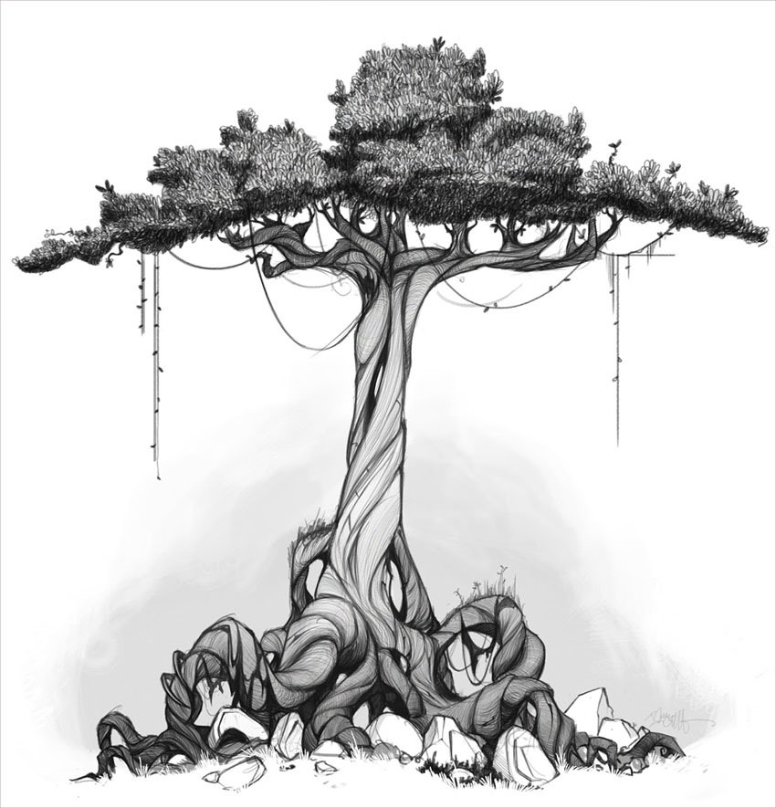 Beautiful Tree drawing