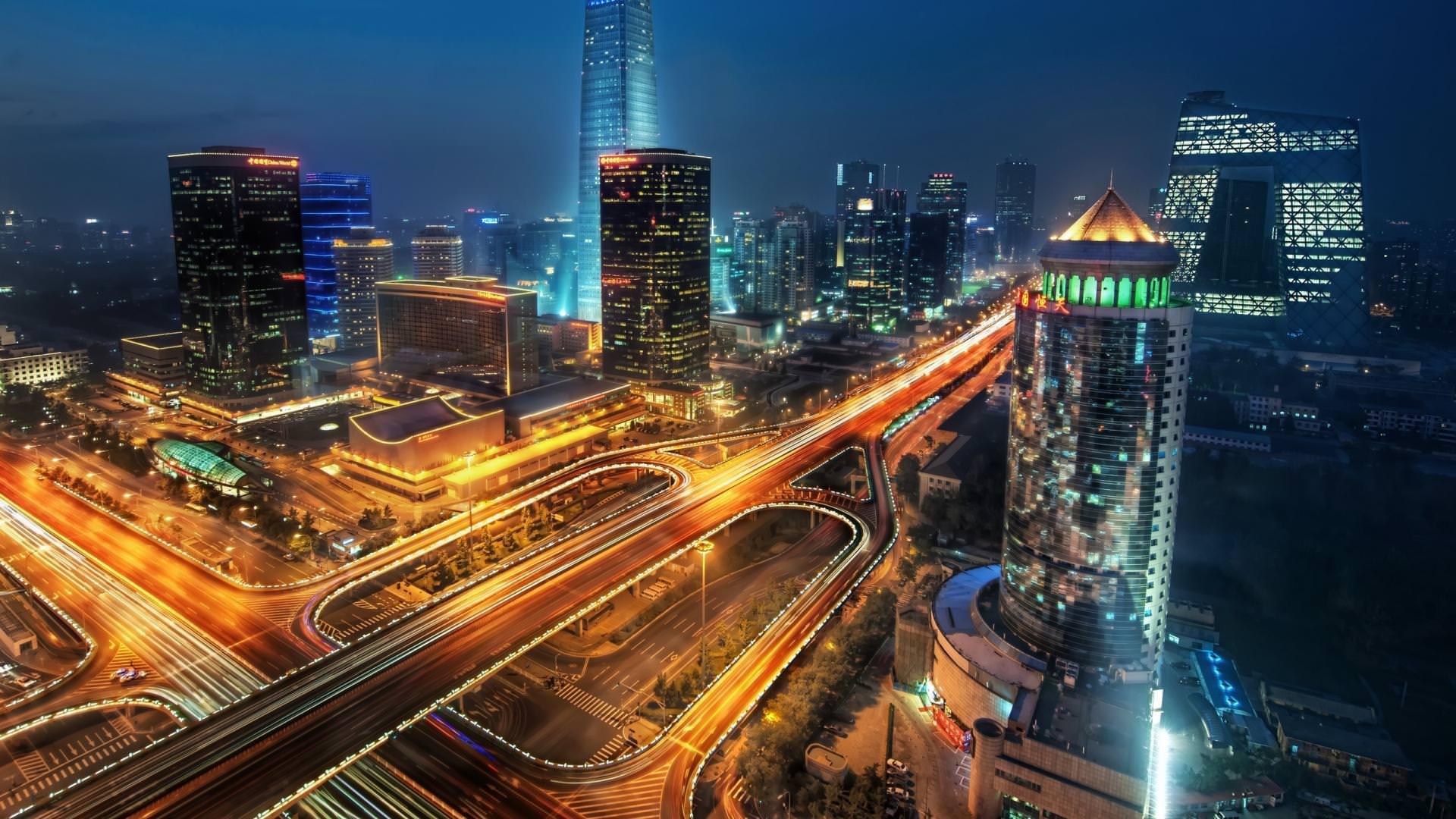 Beijing Night lights Wallpaper