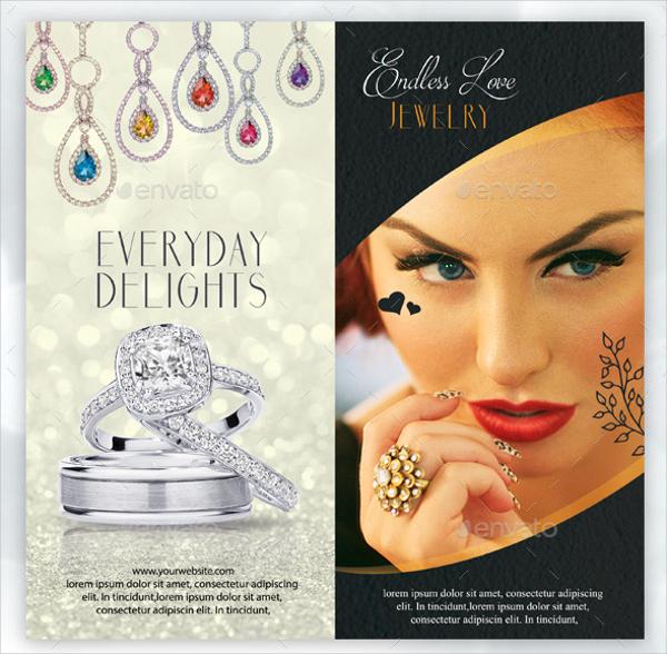 Bi-Fold Jewelry Brochure Advertising